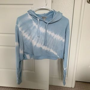 Tie dye cropped hoodie (Size S)